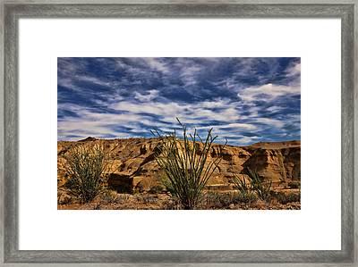 Terlingua Desert 1 Framed Print by Judy Vincent