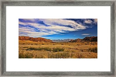 Terlingua Desert 4 Framed Print by Judy Vincent