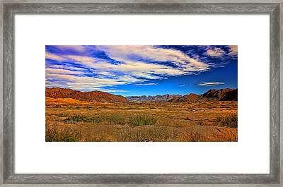 Terlingua Desert Painted Framed Print by Judy Vincent