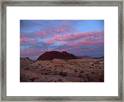 Framed Print featuring the painting Terlingua Sunset by Dennis Ciscel