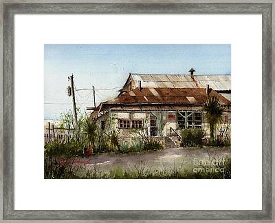 Terlingua Trading Company Framed Print by Tim Oliver