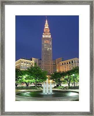 Terminal Tower Framed Print