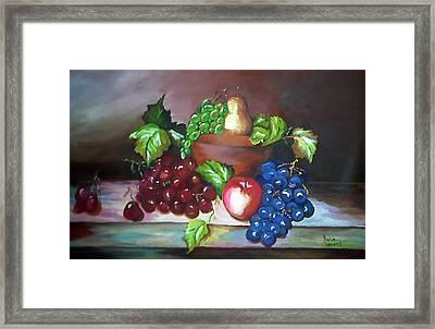 Terra Cotta Bowl Framed Print by Julie Lamons