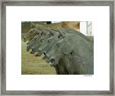 Terra Cotta Horses Framed Print by R Thomas Berner