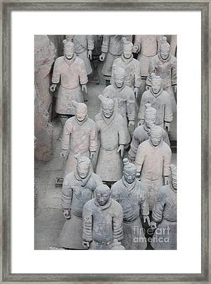 Terra Cotta Warriors Detail Framed Print