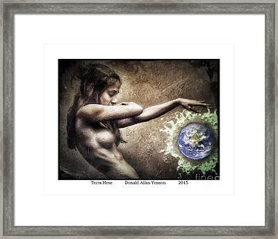 Terra Hexe Framed Print by Donald Yenson