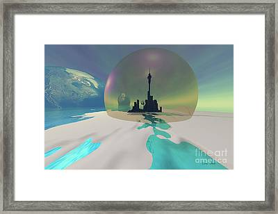 Terra-moon Framed Print by Corey Ford