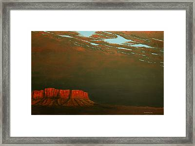 Framed Print featuring the painting Terra Rosa by Kerry Beverly