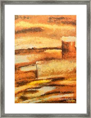 Framed Print featuring the mixed media Terra Rossa by Dragica  Micki Fortuna