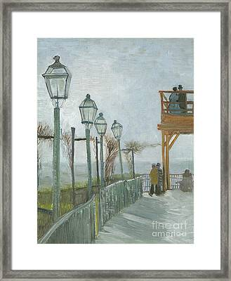 Terrace And Observation Deck At The Moulin De Blute Fin Framed Print