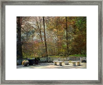 Framed Print featuring the photograph Terrace by John Rivera
