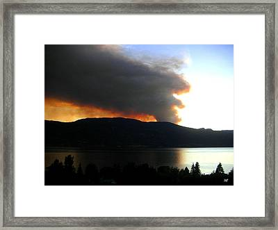 Terrace Mountain Fire Framed Print by Will Borden