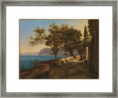 Terrace Of The Capuchin Garden Framed Print by Heinrich Reinhold