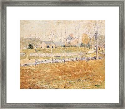 Terrace Prospect Park Framed Print by William Merritt