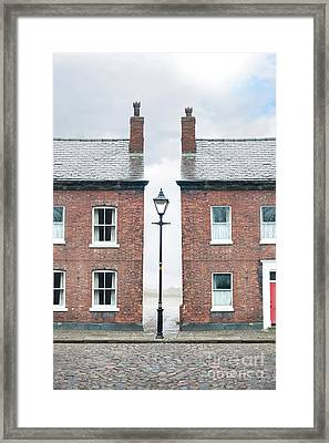 Framed Print featuring the photograph Terraced Houses by Lee Avison