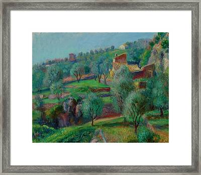 Terraces, South Of France Framed Print by William James Glackens