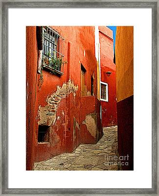 Terracotta Alley Framed Print by Mexicolors Art Photography