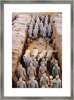 Framed Print featuring the photograph Terracotta Army by Heiko Koehrer-Wagner
