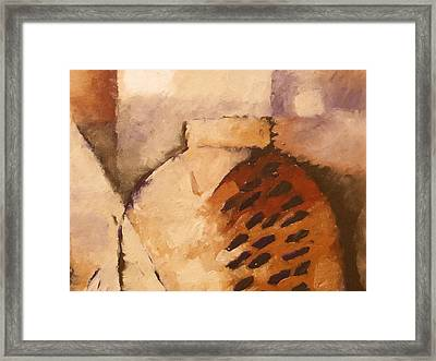 Terracotta Framed Print by Lutz Baar