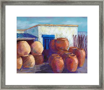Terracotta Pots Framed Print by Candy Mayer