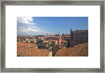 Framed Print featuring the photograph Terracotta Rooftops by Anne Kotan
