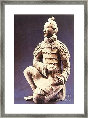 Framed Print featuring the photograph Terracotta Soldier by Heiko Koehrer-Wagner