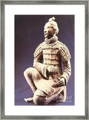 Terracotta Soldier Framed Print