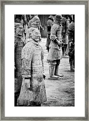 Terracotta Soldiers Framed Print