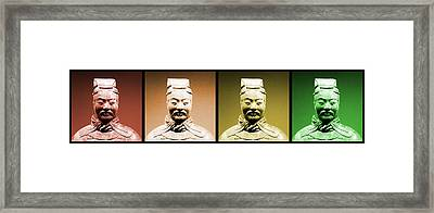 Terracotta Warrior Army Of Qin Shi Huang Di - Royg Framed Print