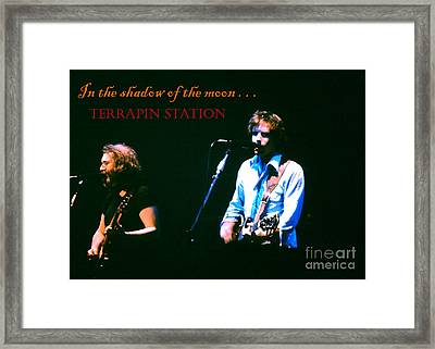 Terrapin Station - Grateful Dead Framed Print by Susan Carella