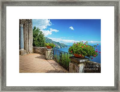 Terrazzo Dell'lnfinito Framed Print by Inge Johnsson