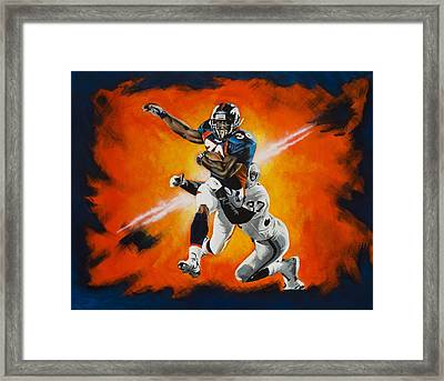 Terrell Davis II Framed Print by Don Medina