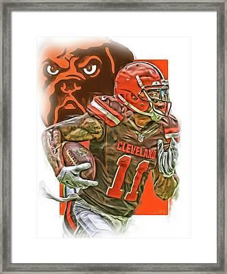 Terrelle Pryor Cleveland Browns Oil Art Framed Print