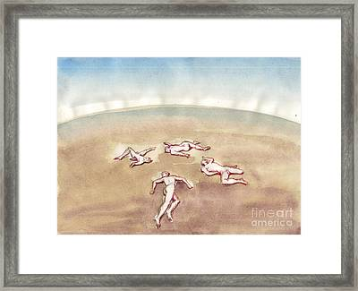 Terrestrial Androne Framed Print by Line Arion