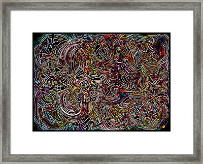 Terrible Beautiful Tangle Framed Print by Mathilde Vhargon