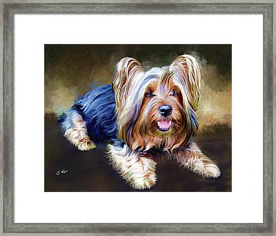Terrier Framed Print by Ellens Art