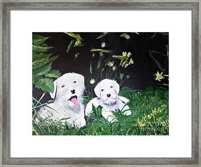 Terriers' Farm Pals. Framed Print