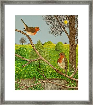 Territorial Rights Framed Print by Pat Scott