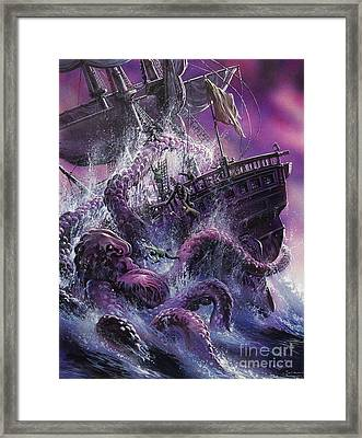 Terror From The Deep Framed Print by Oliver Frey