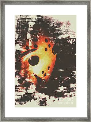 Terror On The Ice Framed Print
