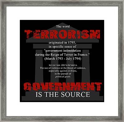 Terrorism Framed Print