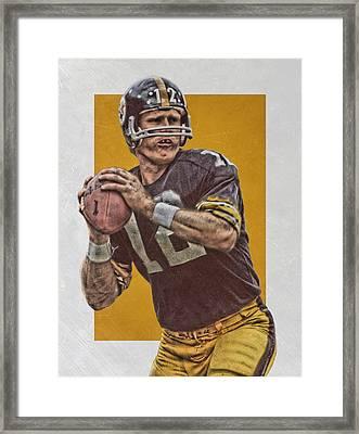 Terry Bradshaw Pittsburgh Steelers Art Framed Print by Joe Hamilton
