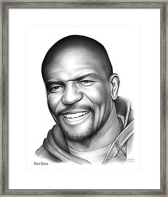 Terry Crews Framed Print by Greg Joens