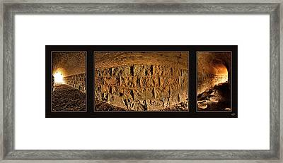 Terry Tunnel Triptych Framed Print by Leland D Howard
