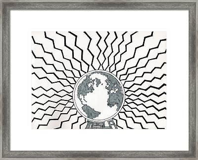 Tesla Changed The World Framed Print