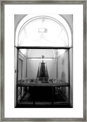 Tesla Coil Framed Print by Jera Sky