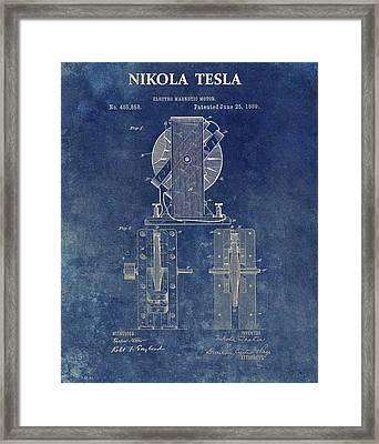 Tesla Electro Magnetic Motor Framed Print by Dan Sproul