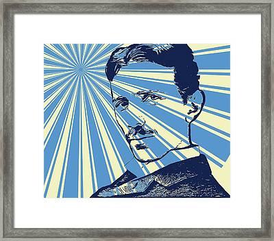 Tesla Pop Art Poster Framed Print by Dan Sproul