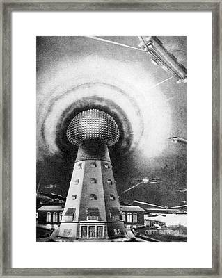 Tesla Tower, 1919 Framed Print by Science Source