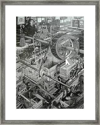 Teslas Free Energy  Framed Print by Richie Montgomery